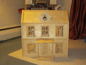 Front view of dollhouse